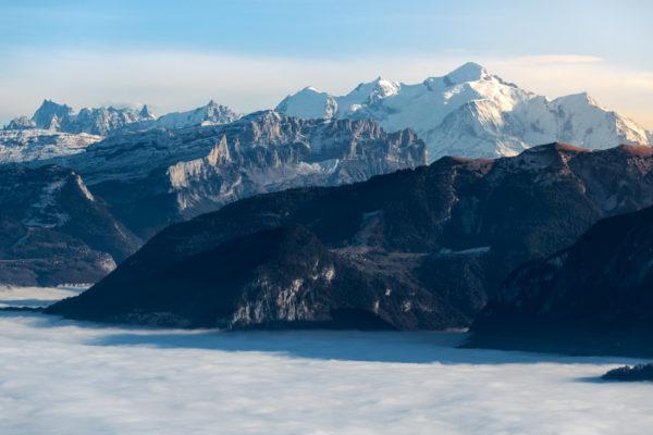 alpes alps jaute savoie france montagne mountain 74 mer de nuage clouds mont blanc cluses bonneville giffre automne ciel bleu dégagé