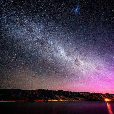 cromwell lake otago new zealand nouvelle zélande nz milky way voie lactée star étoile southern light aurore australe astro astrophoto astronomy lac nuit night stargazing