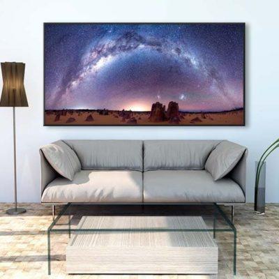 tirage impression print grand format photographie photographe paysage nature décoration art voie lactée milky way panorama nuit night australia australie pinnacles desert
