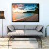 tirage impression print grand format photographie photographe paysage nature décoration art plage fiji fidji coucher de soleil paradise pacifique ocean