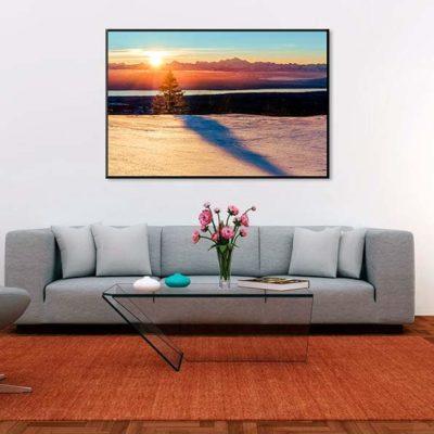 tirage impression print grand format photographie photographe paysage nature décoration art pays de gex col faucille alpes mont blanc lever de soleil lac léman