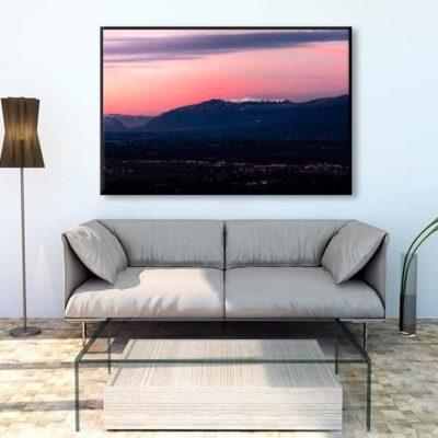 tirage impression print grand format photographie photographe paysage nature décoration art pays de gex jura cessy lever de soleil ain france
