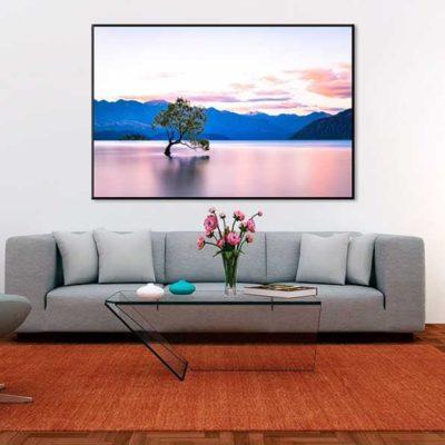 tirage impression print grand format photographie photographe paysage nature décoration art wanaka arbre lac lake nz new zealand nouvelle zélande reflet
