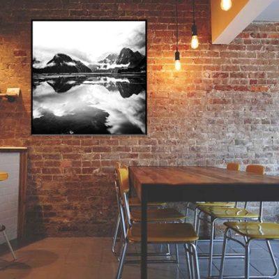 tirage impression print grand format photographie photographe paysage nature décoration art milford sound fiord fjord noir et blanc black and white fineart new zealand