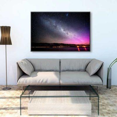tirage impression print grand format photographie photographe paysage nature décoration art voie lactée milky way nz new zeland nouvelle zelande